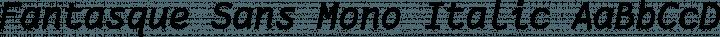 Fantasque Sans Mono Italic free font