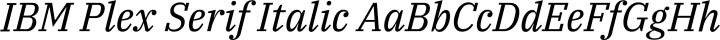 IBM Plex Serif Italic free font