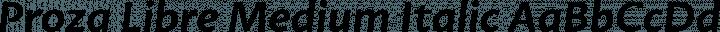 Proza Libre Medium Italic free font