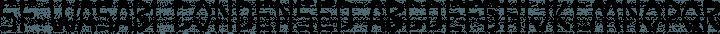 SF Wasabi Condensed Regular free font