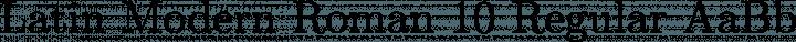 Latin Modern Roman 10 Regular free font