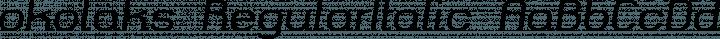 okolaks RegularItalic free font