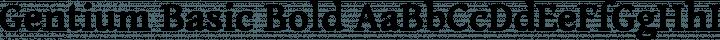 Gentium Basic Bold free font