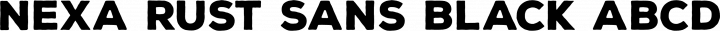 Nexa Rust Sans Black free font