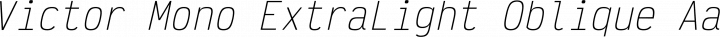 Victor Mono ExtraLight Oblique free font