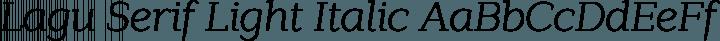 Lagu Serif Light Italic free font
