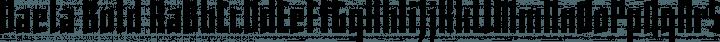 Daela Bold free font