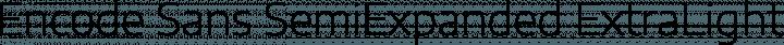 Encode Sans SemiExpanded ExtraLight free font