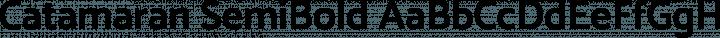 Catamaran SemiBold free font