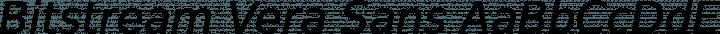 Bitstream Vera Sans font family by Bitstream