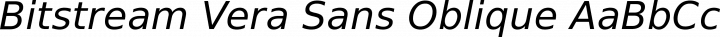 Bitstream Vera Sans Oblique free font
