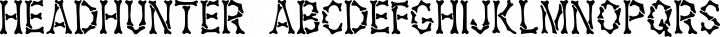 Headhunter Regular free font