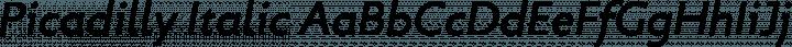 Picadilly Italic free font