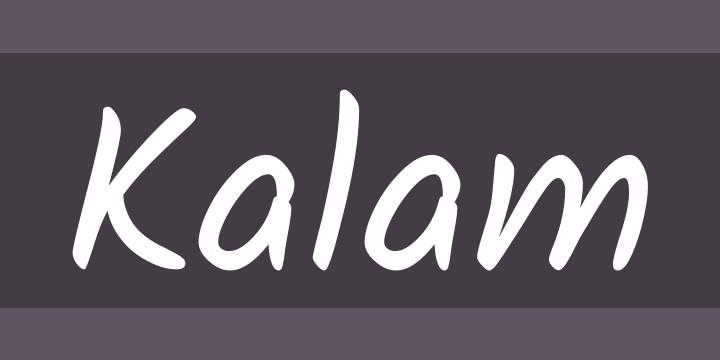 Kalam Font Free By Indian Type Foundry Font Squirrel