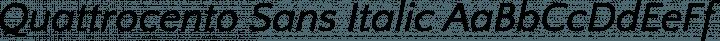 Quattrocento Sans Italic free font