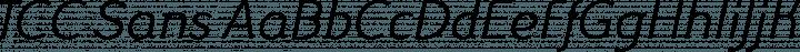 TCC Sans font family by Sea Types