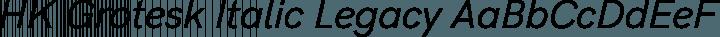 HK Grotesk Italic Legacy free font