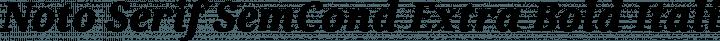 Noto Serif SemCond Extra Bold Italic free font