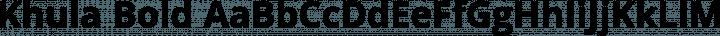 Khula Bold free font