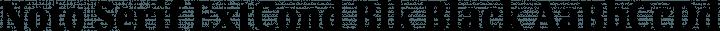 Noto Serif ExtCond Blk Black free font