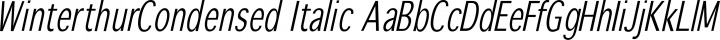 WinterthurCondensed Italic free font