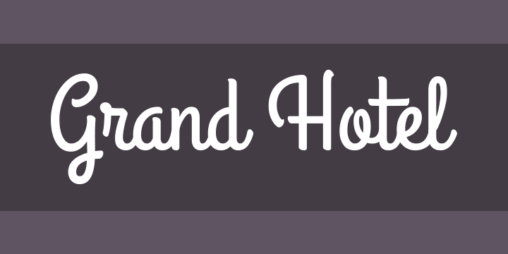 Grand Hotel Font Free By Astigmatic Squirrel