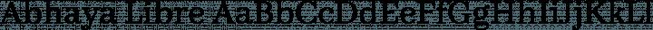 Abhaya Libre Regular free font