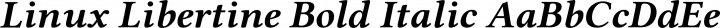 Linux Libertine Bold Italic free font