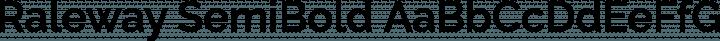 Raleway SemiBold free font