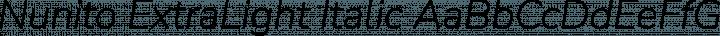 Nunito ExtraLight Italic free font