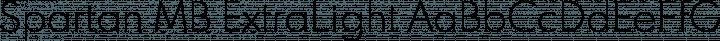 Spartan MB ExtraLight free font