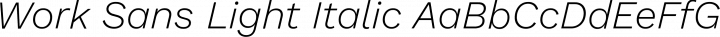 Work Sans Light Italic free font