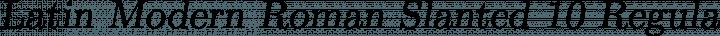 Latin Modern Roman Slanted 10 Regular free font