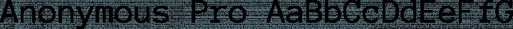 Anonymous Pro Regular free font