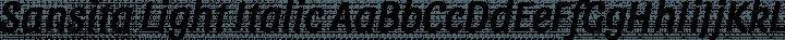 Sansita Light Italic free font