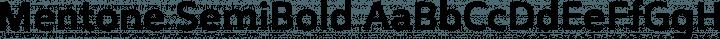 Mentone SemiBold free font