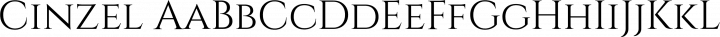 Cinzel Regular free font