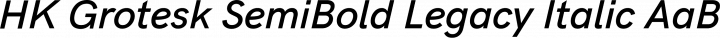 HK Grotesk SemiBold Legacy Italic free font