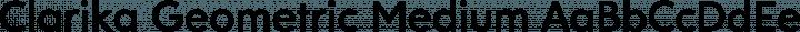 Clarika Geometric Medium free font