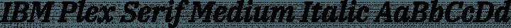 IBM Plex Serif Medium Italic free font