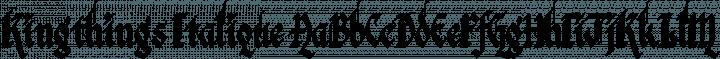 Kingthings Italique Regular free font