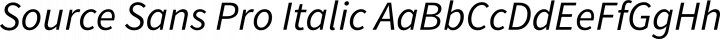 Source Sans Pro Italic free font