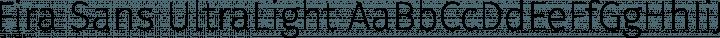 Fira Sans UltraLight free font