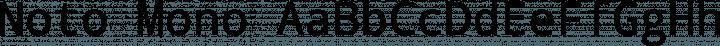 Noto Mono font family by Google