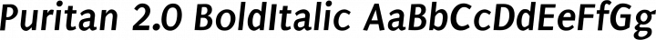 Puritan 2.0 BoldItalic free font