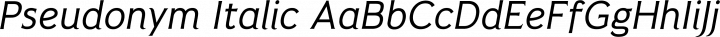 Pseudonym Italic free font