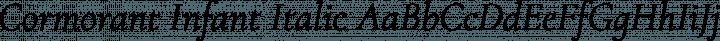Cormorant Infant Italic free font