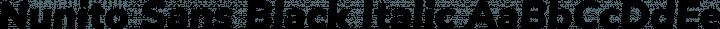 Nunito Sans Black Italic free font