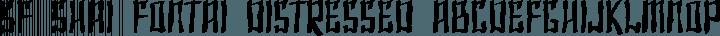 SF Shai Fontai Distressed Regular free font