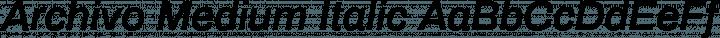 Archivo Medium Italic free font